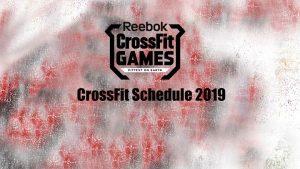 CrossFit Schedule 2019